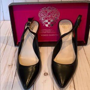 Gorgeous Vince Camuto Black Slingback Heels